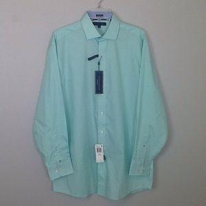 Tommy Hilfiger dress shirt in palm green.